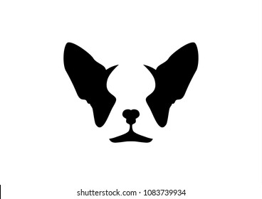 French Bulldog Logo in Black & White. For Branding Design, Corporate Identity, Emblem badge, Logo for your dog brand product. Easy to use as an icon or a logo with minimal style.