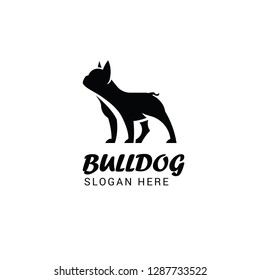 French bulldog logo template isolated on white background