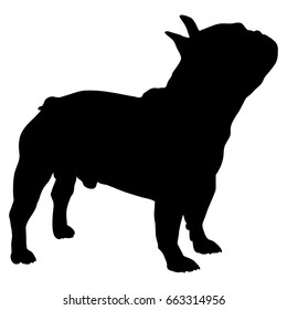 French Bulldog Silhouette Vector