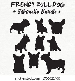 French bulldog silhouette Vector Design Bulldog face black and white SVG Sticker graphics
