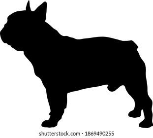 French Bulldog Silhouette Vector File