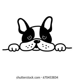french bulldog sleepy dog illustration vector cartoon