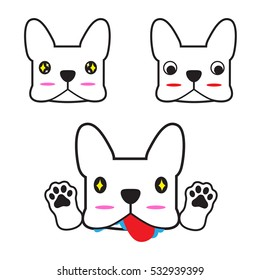 French bulldog vector with cute action