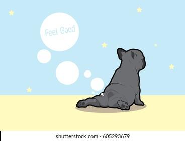 French Bulldog Yoga Fart Style