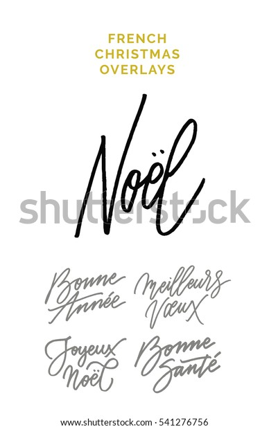 Christmas Expressions.French Christmas Expressions Meaning Merry Christmas Stock