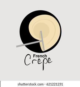 French Crepe logo vector illustration