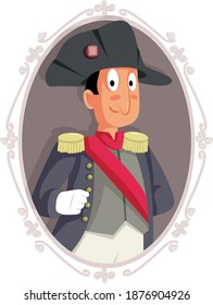 French Emperor Napoleon Bonaparte Portrait Cartoon. Cartoon drawing of famous French emperor