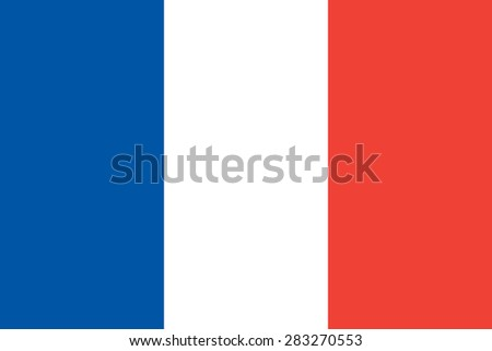 French Flag Official State Symbol Republic Stock Vector Royalty