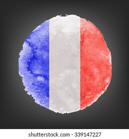 French flag on dark background. Vector illustration Pray for Paris 13 November 2015. Tribute to the victims of terroristic attacks in Paris.