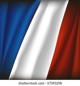french flag vector illustration