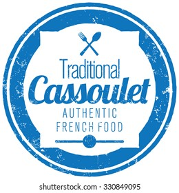 french food cassoulet stamp