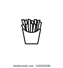 French fries, fast food, Icon.
