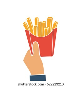 logos potato fries vector simple illustration stock vector royalty