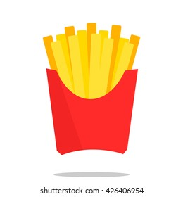 French fries. Modern flat style. Vector icon