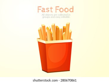 French fries, potato, fried, fast food