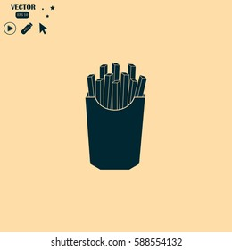 French fries potato image. Fries vector illustration.