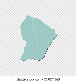 Map Of French Guiana Images Stock Photos Vectors Shutterstock
