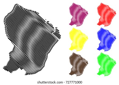 French Guiana Outline Images Stock Photos Vectors Shutterstock
