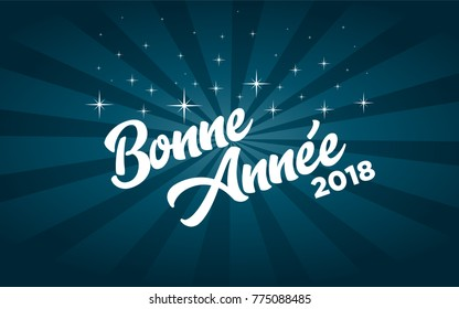 French Happy new year 2018 greeting card