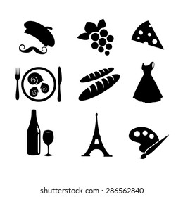 French icon set vector