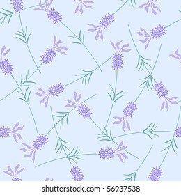 French lavender seamless pattern