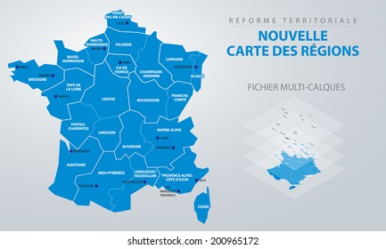 Carte De France Region High Res Stock Images Shutterstock