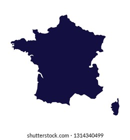 French Map Vector
