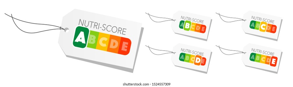 French Nutri-Score system. Sign health care for packaging