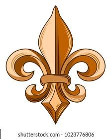 French symbol - Fleur de Leaf