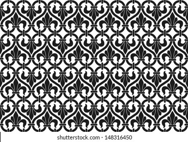 French Victorian vintage seamless pattern