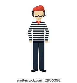 frenchman character cartoon
