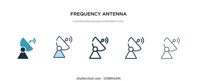 frequency antenna icon in different style vector illustration. two colored and black frequency antenna vector icons designed in filled, outline, line and stroke style can be used for web, mobile, ui