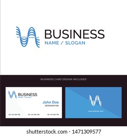 Frequency, Hertz, Pitch, Pressure, Sound Blue Business logo and Business Card Template. Front and Back Design. Vector Icon Template background