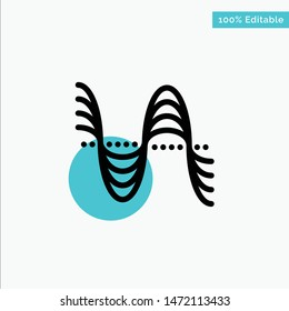 Frequency, Hertz, Pitch, Pressure, Sound turquoise highlight circle point Vector icon