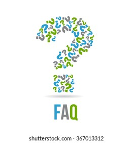 Frequently Asked Questions Sign. Vector graphic