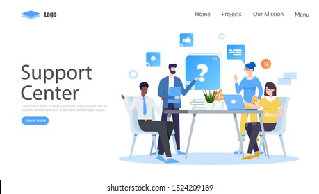 Frequently Asked Questions Vector Illustration Concept , Suitable for web landing page, ui, mobile app, editorial design, flyer, banner, and other related occasion