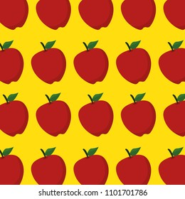 fresh apples fruits pattern background