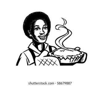 Fresh Baked Pie 2 - Retro Clip Art