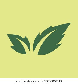 Fresh basil leaves icon. Flat illustration of basil leaves vector icon logo isolated