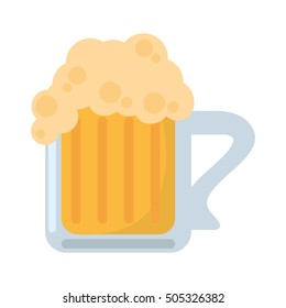 fresh beer glass isolated icon vector illustration design
