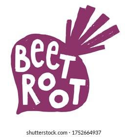 Fresh Beetroot Vegetable for Emblem, Logo, Sign or Badge