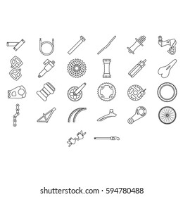Fresh bicycle part Icons. More bicycle icons in set.
