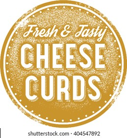 Fresh Cheese Curds Menu Stamp