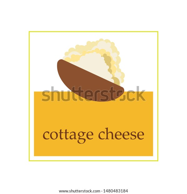 Fresh cottage cheese, dairy products, vector background