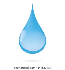 fresh cyan water drop