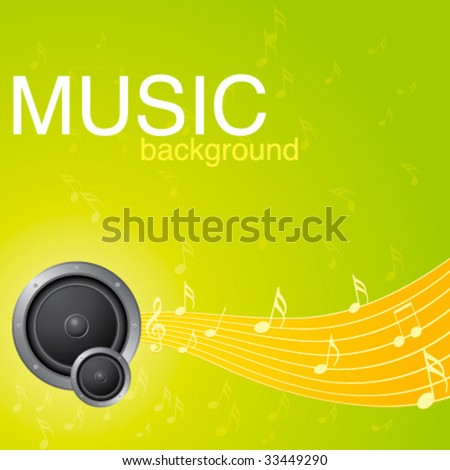 Fresh Energetic Music Background Stock Vector (Royalty Free