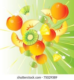 Fresh fruit burst