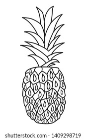 Fresh fruit nutrition healthy food and fitness diet options pineapple vector illustration graphic design
