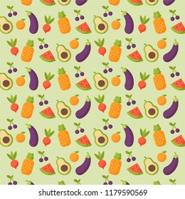 Fresh Fruit and vegetable pattern