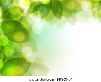 Fresh green leaves nature background.
